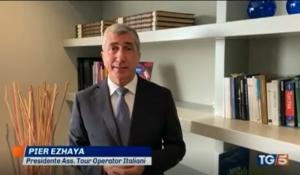 TG5/Edizione 13:00 – L'intervento del Presidente ASTOI, Pier Ezhaya
